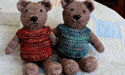 Knit Magic Loop Teddy Free Knitting Pattern
