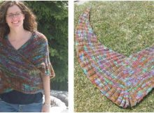 magical mistaken knitted shawl | the knitting space