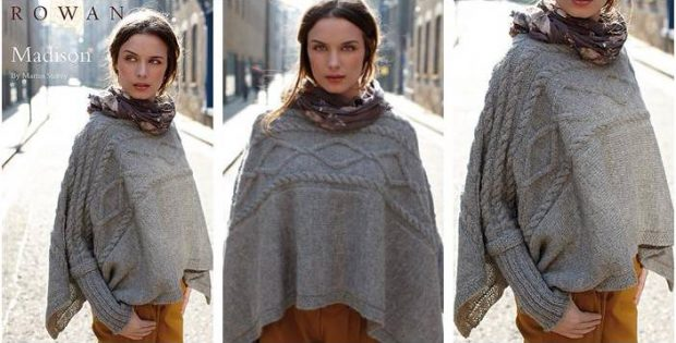 Magnificent Madison Knitted Cape Free Knitting Pattern