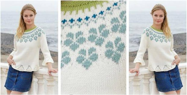 magnificent Myosotis knitted sweater | the knitting space
