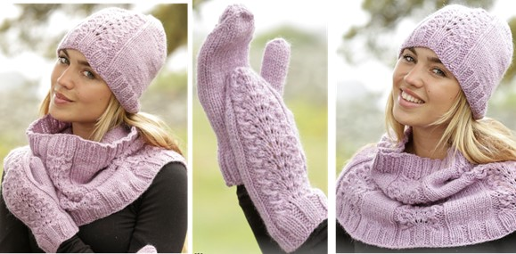 Malin Knitted Hat And Neck Warmer Free Knitting Pattern