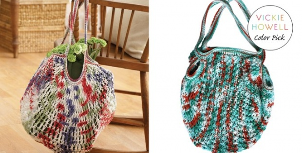 Knit Market Bag Free Knitting Pattern Video Tutorial