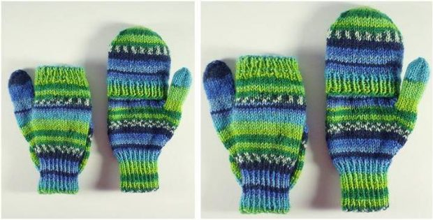 marvelous knitted double mitts | the knitting space