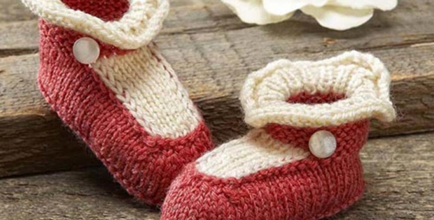 Knit Mary Jane Booties Free Pattern