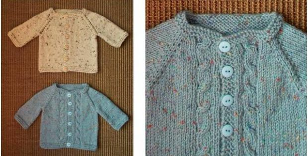 Max Knitted Baby Cardigan [FREE Knitting Pattern]