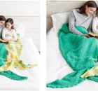 mermaid knitted snuggle sack | the knitting space