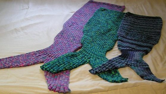 Knitting Patterns For Mermaid Tails : Knitted Mermaid Tails For All [FREE Knitting Pattern]