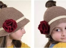 messy bun knitted bell hat | the knitting space