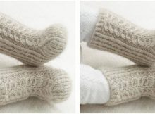 mini snow knitted baby boots | the knitting space