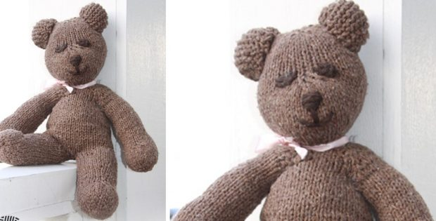 Mister Bean Knitted Teddy Bear Free Knitting Pattern
