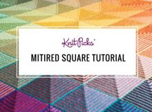 knitted mitered squares | the knitting space