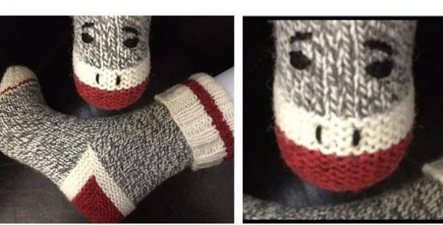 Monkey Work Knitted Socks Free Knitting Pattern