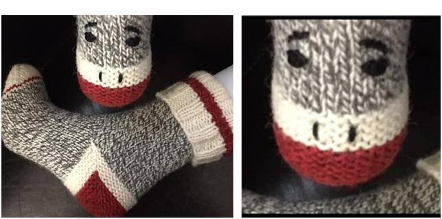 Work Sock Sweater Knitting Pattern : Monkey work knitted socks free knitting pattern
