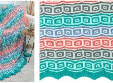mosaic squares knitted throw   the knitting space