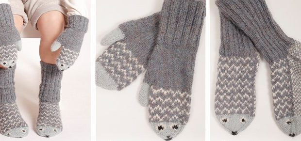 Mr Fish Knitted Mittens And Socks Free Knitting Pattern