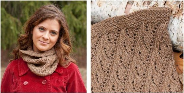 Neat N Lacy Knitted Rib Cowl Free Knitting Pattern
