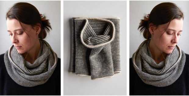 newsprint simple knitted cowl | the knitting space