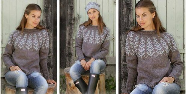 Nifty Inner Circle Knitted Sweater Free Knitting Pattern