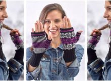 nifty Nordic Pop knitted mitts | the knitting space