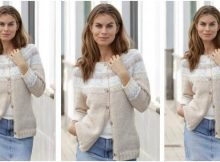nifty Nougat knitted cardigan | the knitting space