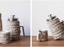 nifty knitted cabled cozies   the knitting space