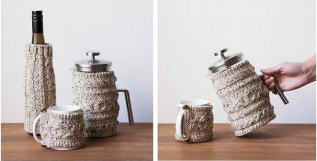 nifty knitted cabled cozies | the knitting space