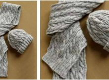 nifty knitted cabled warmers | the knitting space