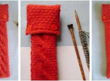 neat 'n nifty knitted needle cozy | the knitting space
