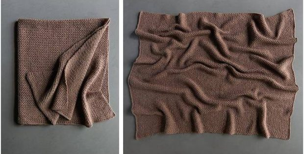 nifty knitted plaited throw | the knitting space