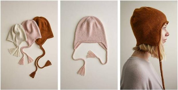 Nifty Knitted Ear Flap Hats Free Knitting Pattern