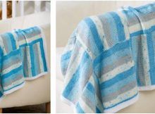 nine patch knitted baby blanket | the knitting space