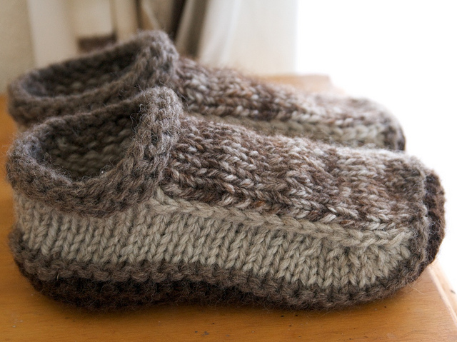 Knitting Slippers Free Pattern : Knit non felted slippers free knitting pattern