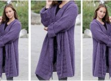 nonchalant knitted shawl collar jacket | the knitting space