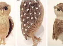 obligatory owl knitted toy | the knitting space