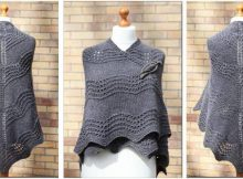 beautiful old shale knitted shawl | the knitting space