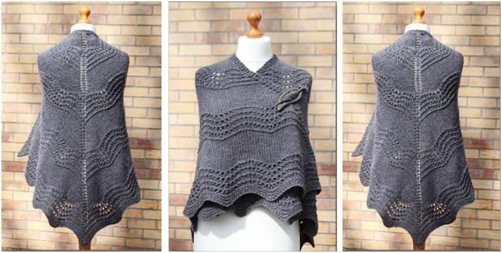 517ffabf6491 Beautiful Old Shale Knitted Shawl  FREE Knitting Pattern