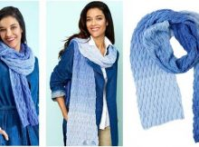 ombre basketweave knitted scarf   the knitting space