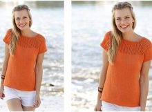 orange dream knitted top | the knitting space