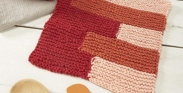 Knit Orange Slice Dishcloth Free Pattern