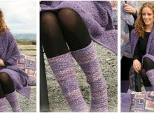 orchid warmth knitted lace set | the knitting space