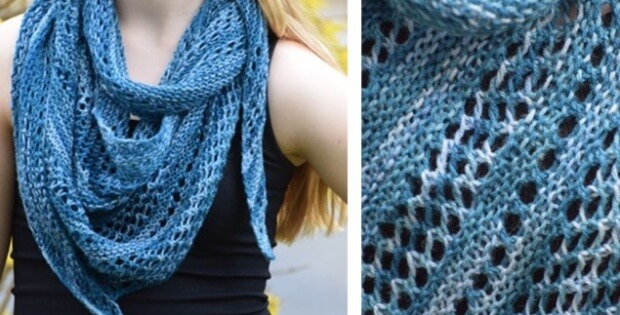 Knit Pacific Lace Shawl [FREE Pattern]