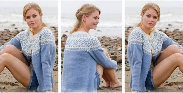 peppy periwinkle knitted jacket | the knitting space