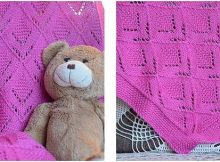 pinkaboo knitted baby blanket | the knitting space