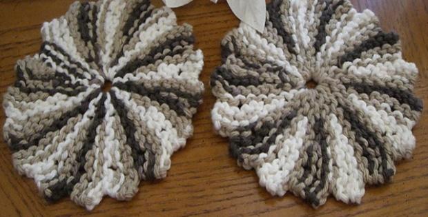 Knit Garter Stitch Coaster Free Knitting Pattern