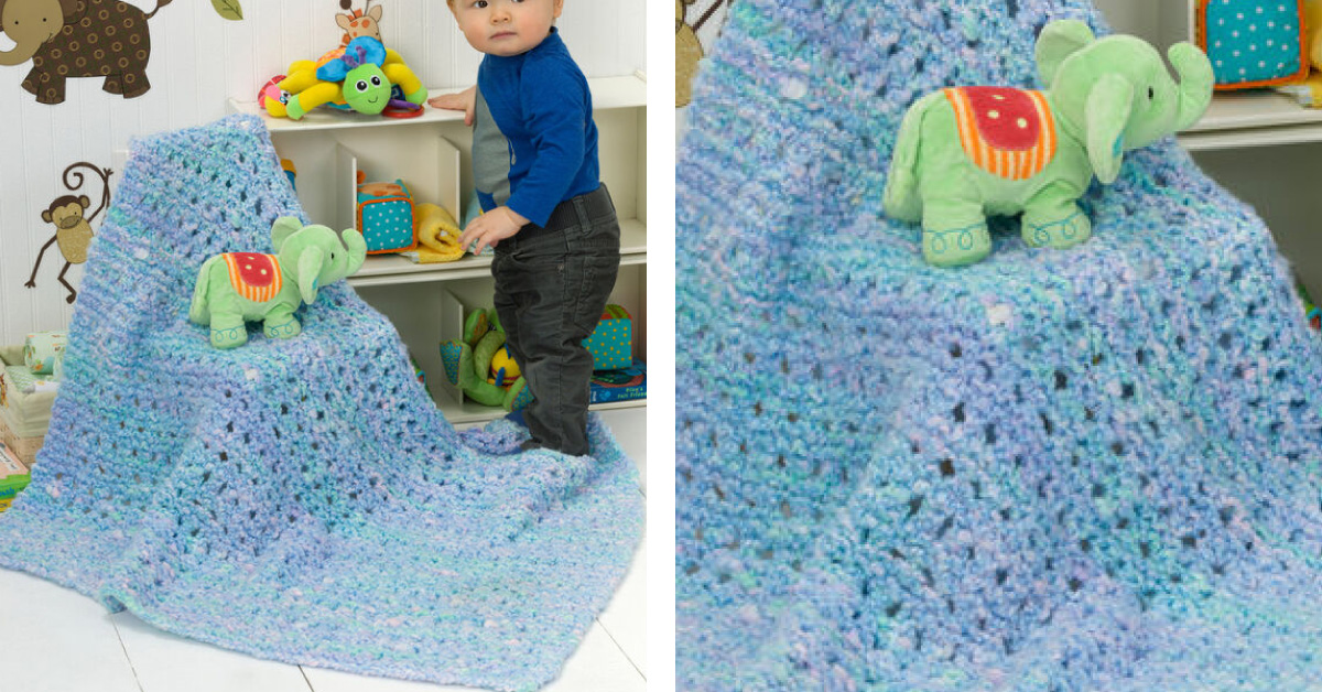Playful Knitted Baby Blanket Free Knitting Pattern