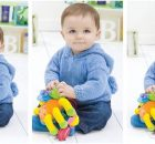 playtime pompom knitted hoodie | the knitting space