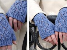 point Reyes knitted lacy mitts | the knitting space