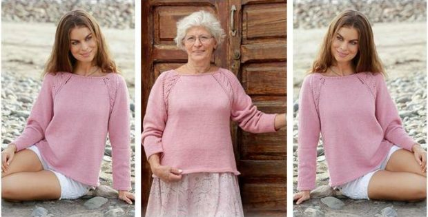 precious Peonia knitted lace sweater | the knitting space