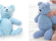 precious Pippy knitted bear | the knitting space
