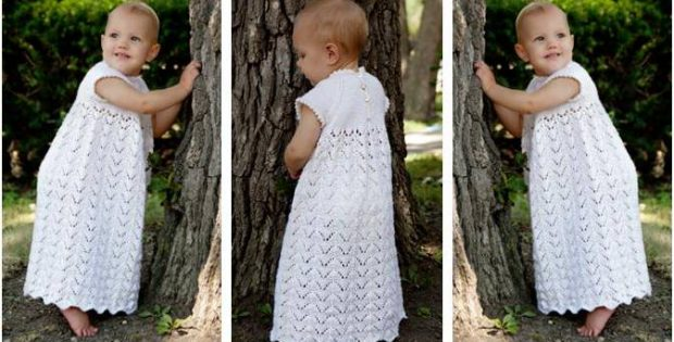 Precious Knitted Christening Gown Free Knitting Pattern